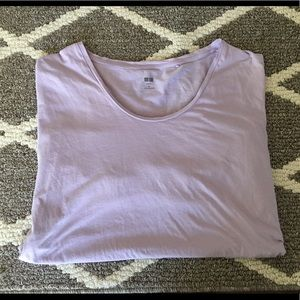 Uniqlo supima cotton tee lavender size M